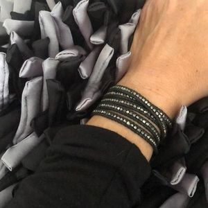 Chan Luu Mix Wrap Black Leather Bracelet